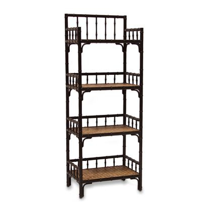 Well Known Baguia Etagere Bookcases Intended For Baguio 4 Shelf Etagere, Dark Mahoganypalecek (View 13 of 20)