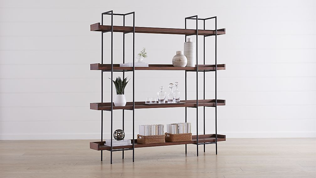 Well Known Beckett Etagere Bookcases With Beckett 4 High Shelf Sable (View 19 of 20)