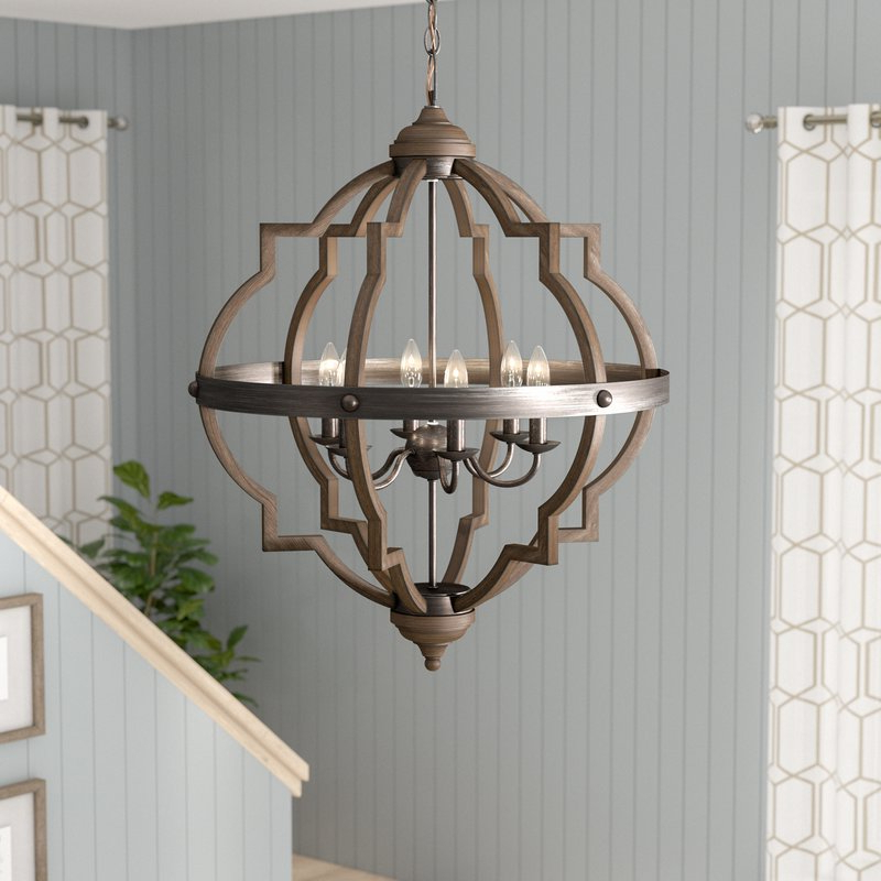 Well Known Bennington 6 Light Candle Style Chandelier In Bennington 4 Light Candle Style Chandeliers (View 30 of 30)