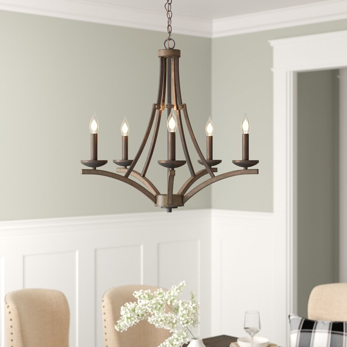 Well Known Berger 5 Light Candle Style Chandeliers With Wireman 5 Light Candle Style Chandelier (View 14 of 30)
