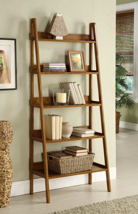 Well Known Bordelon Slatted Ladder Bookcases With Ladder Bookcase In  (View 18 of 20)
