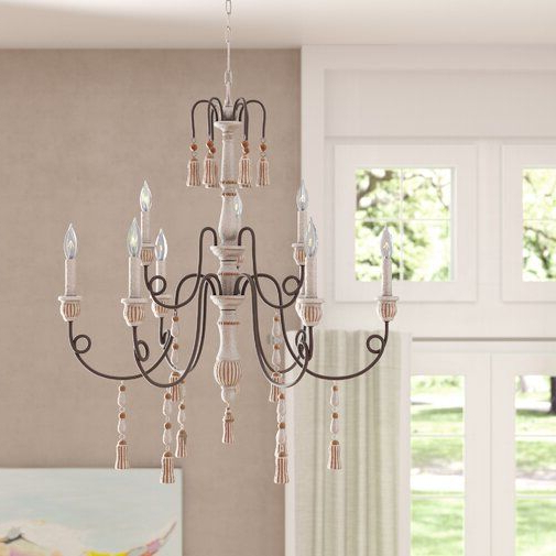 Well Known Bouchette Traditional 6 Light Candle Style Chandeliers Throughout Hassan 9 Light Candle Style Chandelier (View 27 of 30)