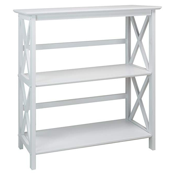 Well Known Casual Home 324 31 Montego 3 Shelf Bookcase, White (View 14 of 20)
