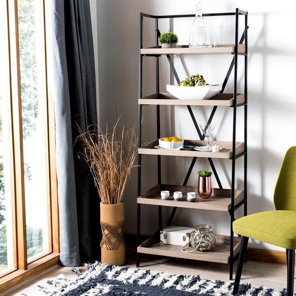 Well Known Cecelia Etagere Bookcases With Regard To Shop Safavieh Cecilia Oak/ Black Étagère – 25' X 14' X  (View 18 of 20)