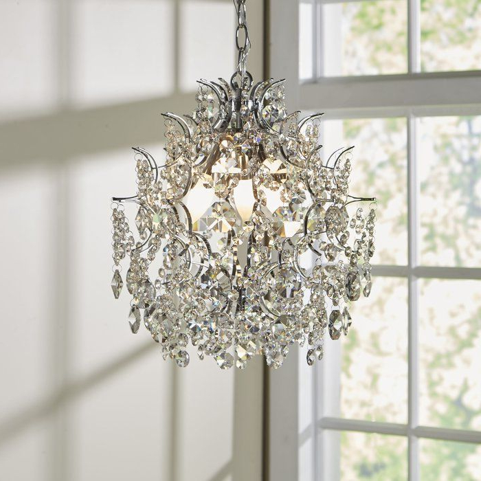 Well Known Clea 3 Light Crystal Chandeliers With Regard To Clea 3 Light Crystal Chandelier In (View 2 of 30)