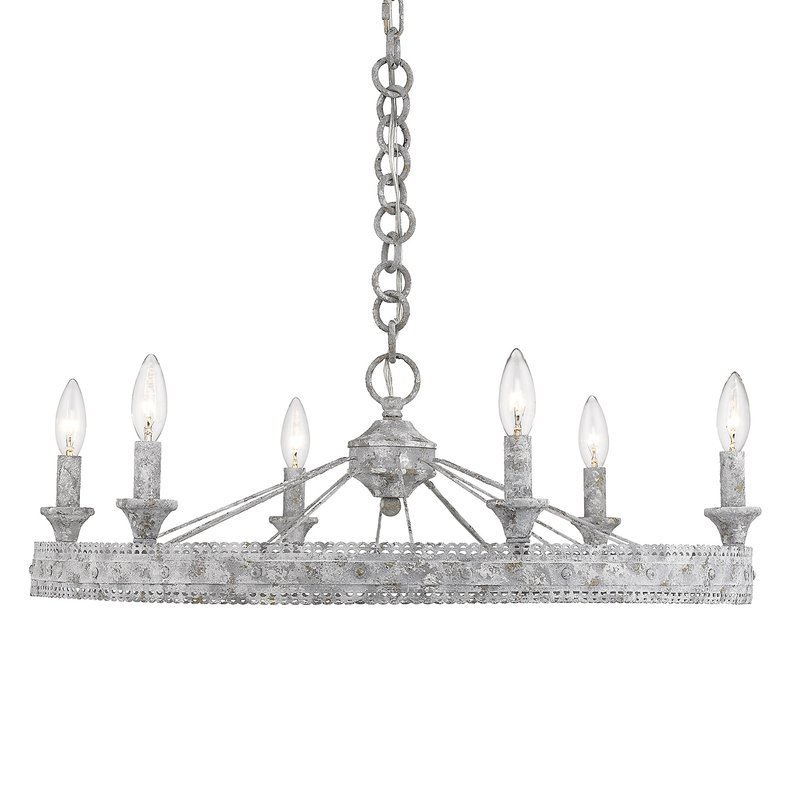 Well Known Cleo 6 Light Wagon Wheel Chandelier With Regard To Clea 3 Light Crystal Chandeliers (View 24 of 30)