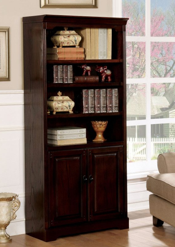 Well Known Cm Dk6384S Tami Dark Walnut Finish Wood Book Shelf Unit With Tami Standard Bookcases (View 19 of 20)