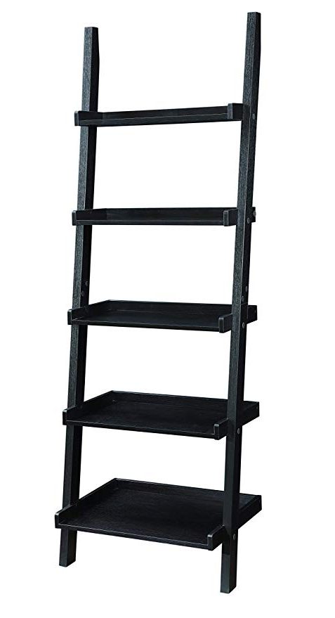 Well Known Coaster Home Furnishings 800338 Colella 5 Shelf Ladder Bookcase, Cappuccino Throughout Dunhill Ladder Bookcases (View 19 of 20)
