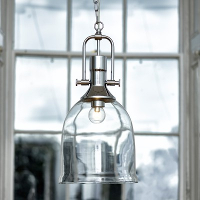 Well Known Dar Nolan Dual Mount Glass Ceiling Pendant Light – Polished With Regard To Nolan 1 Light Lantern Chandeliers (View 19 of 30)