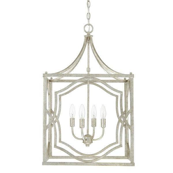 Well Known Destrey 4 Light Lantern Square / Rectangle Pendant Regarding Freeburg 4 Light Lantern Square / Rectangle Pendants (View 30 of 30)