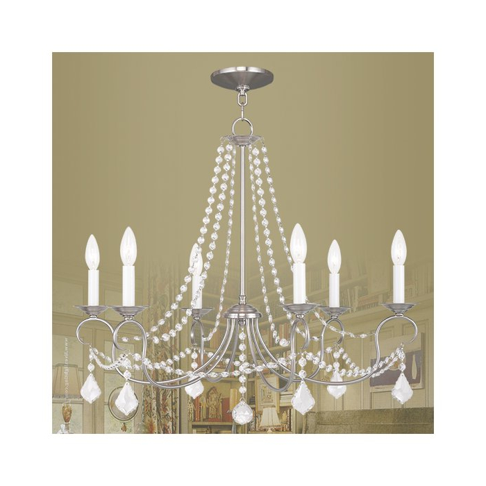 Well Known Devana 6 Light Candle Style Chandelier Pertaining To Diaz 6 Light Candle Style Chandeliers (View 27 of 30)