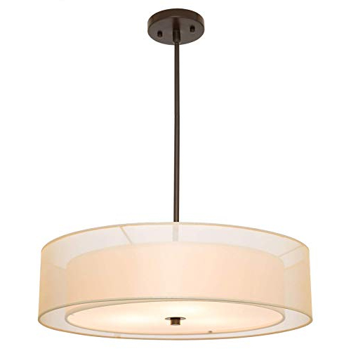 Well Known Dimmable Drum Chandelier Lighting: Amazon In Breithaup 4 Light Drum Chandeliers (View 19 of 30)