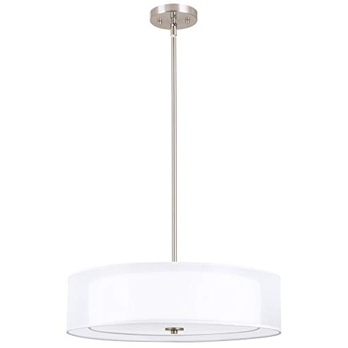 Well Known Dimmable Drum Chandelier Lighting: Amazon With Breithaup 7 Light Drum Chandeliers (View 18 of 30)