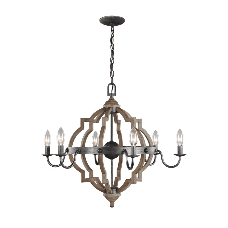 Well Known Donna 6 Light Candle Style Chandelier Pertaining To Donna 6 Light Globe Chandeliers (View 10 of 30)