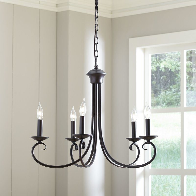 Well Known Edgell 5 Light Candle Style Chandelier Throughout Shaylee 5 Light Candle Style Chandeliers (View 16 of 30)