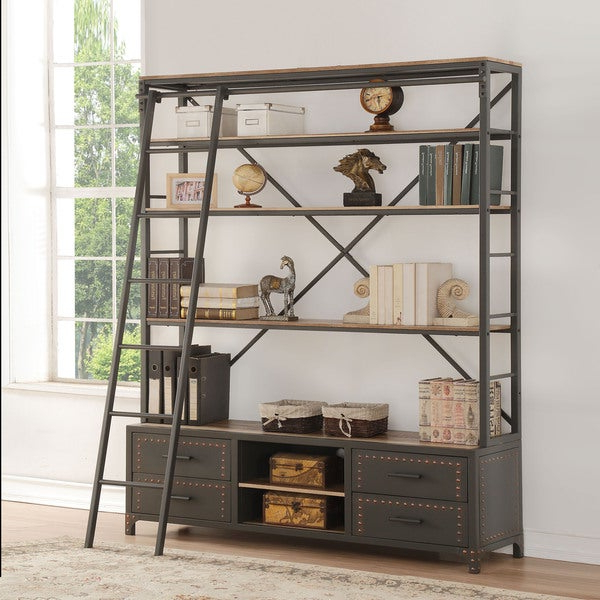Well Known Etagere Bookcases With Regard To Shop Acme Furniture Actaki Sandy Grey Etagere Bookcase With (View 4 of 20)