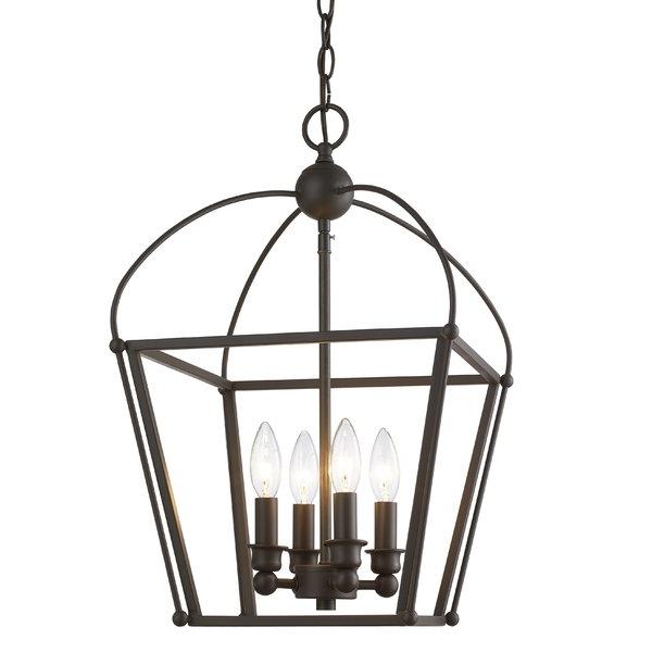 Well Known Finnick 4 Light Foyer Pendants Regarding Gladding 4 Light Foyer Lantern Pendant (View 28 of 30)