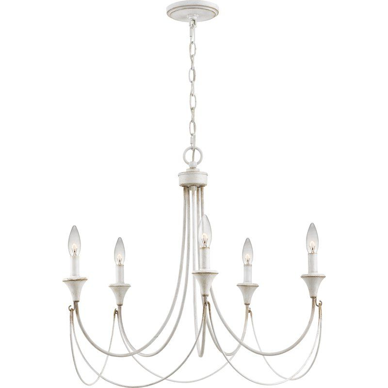 Well Known Florentina 5 Light Candle Style Chandeliers In Walczak 5 Light Candle Style Chandelier (View 12 of 30)