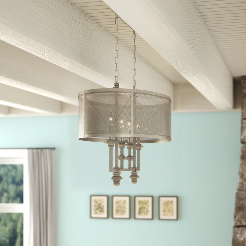 Well Known Freeburg 4 Light Chandelier Intended For Millbrook 5 Light Shaded Chandeliers (View 28 of 30)