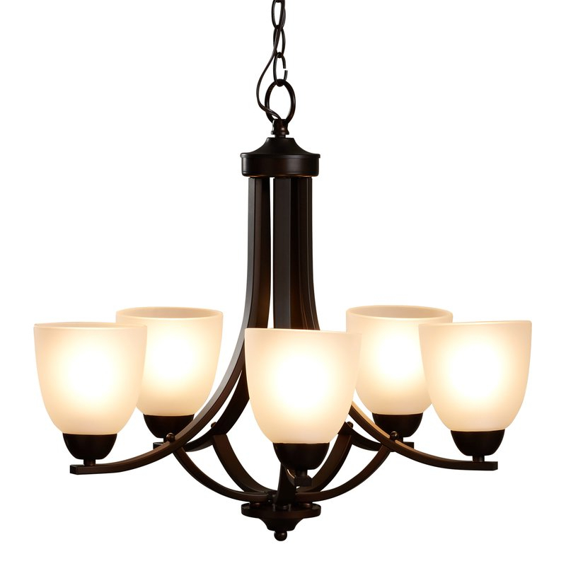 Well Known Hayden 5 Light Shaded Chandelier Within Crofoot 5 Light Shaded Chandeliers (View 5 of 30)