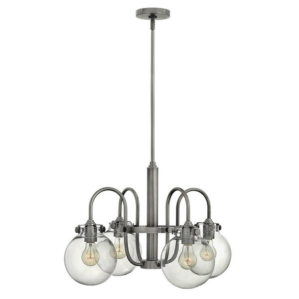Well Known Hewitt 4 Light Square Chandeliers In Hinkley Lighting 3044 Congress 4 Light 1 Tier Chandelier With Clear Globe Shade – N/a (View 22 of 30)