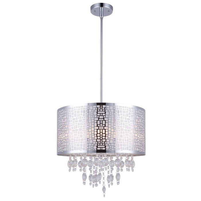 Well Known Jill 4 Light Drum Chandelier For Lindsey 4 Light Drum Chandeliers (View 5 of 30)