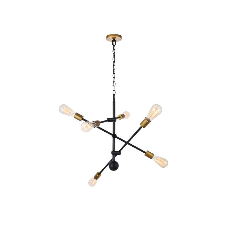 Well Known Johanne 6 Light Sputnik Chandelier With Johanne 6 Light Sputnik Chandeliers (View 25 of 30)