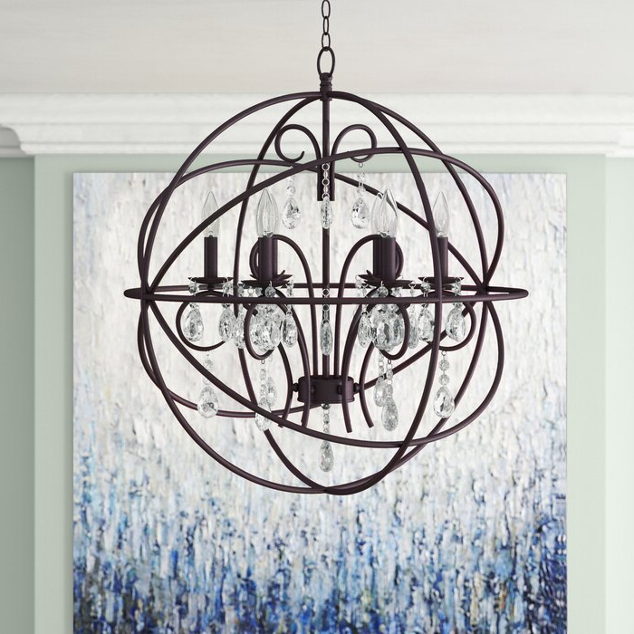 Well Known Joon 6 Light Globe Chandeliers Intended For Alden 6 Light Globe Chandelier (View 28 of 30)