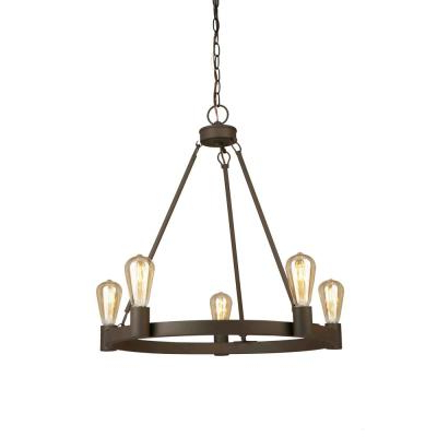 Well Known Kenna 5 Light Empire Chandeliers In Farmhouse – Chandeliers – Lighting – The Home Depot (View 29 of 30)