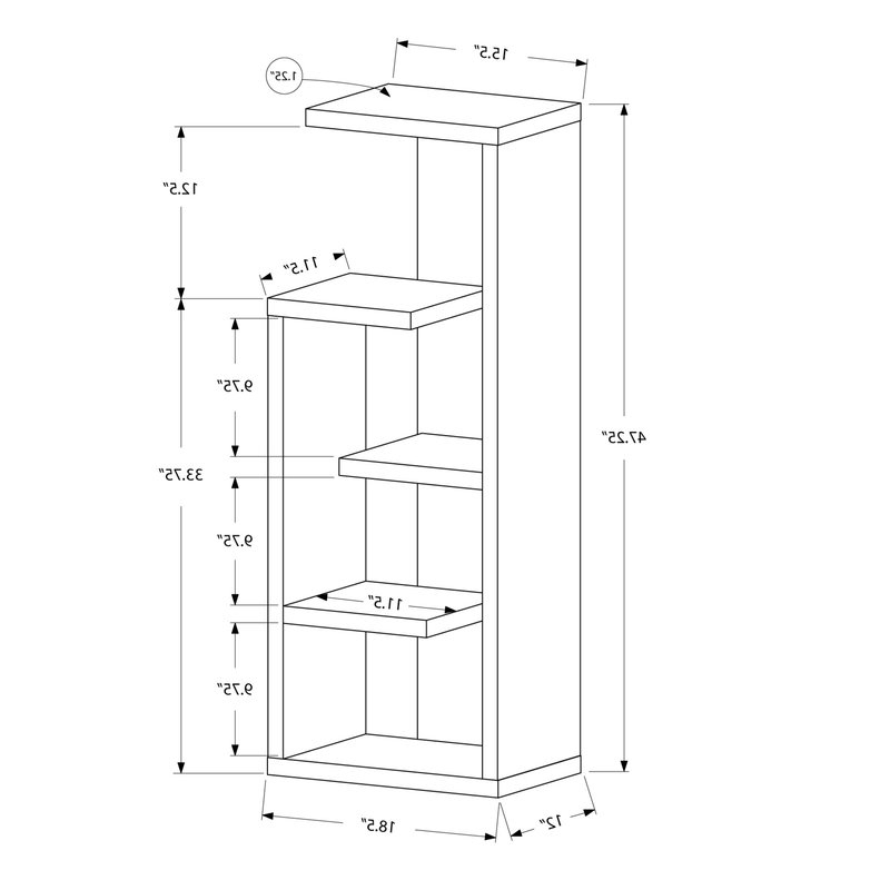 Well Known Kiley Standard Bookcase With Regard To Kiley Standard Bookcases (View 20 of 20)