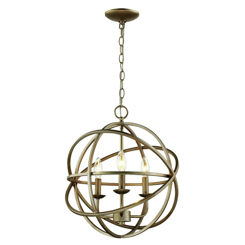Well Known La Sarre 3 Light Globe Chandeliers Intended For Baitz 3 Light Globe Chandelier (Gallery 7 of 30)