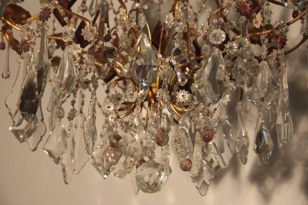Well Known Large French Crystal Chandelier, 1940s Within Albano 4 Light Crystal Chandeliers (View 27 of 30)
