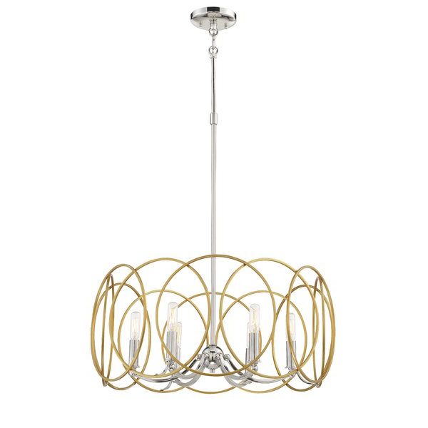 Well Known Lindsey 4 Light Drum Chandeliers Within Haslam 6 Light Drum Chandelier (View 19 of 30)