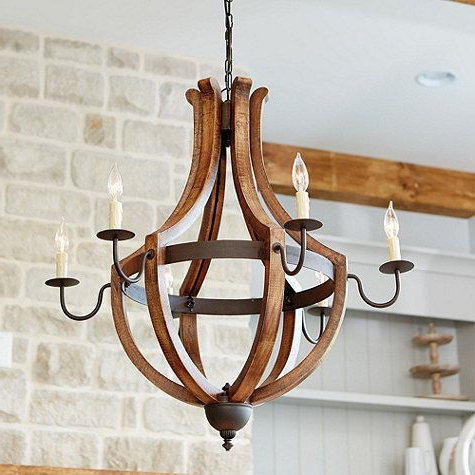 Well Known Lynn 6 Light Geometric Chandeliers Pertaining To Tuscany 6 Light Chandelier (View 27 of 30)