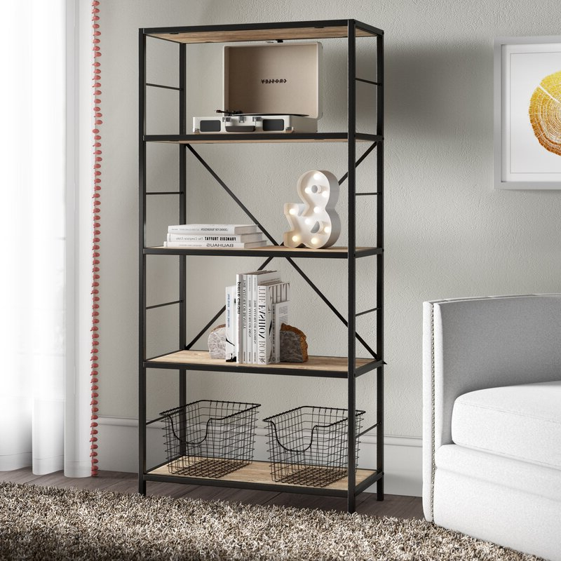 Well Known Macon Etagere Bookcase With Regard To Rossman Etagere Bookcases (View 8 of 20)