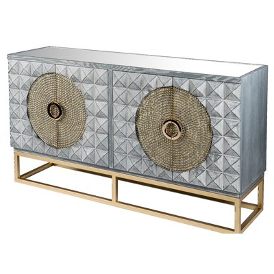 Well Known Mercer41 Damico Studded Sideboard (View 17 of 20)