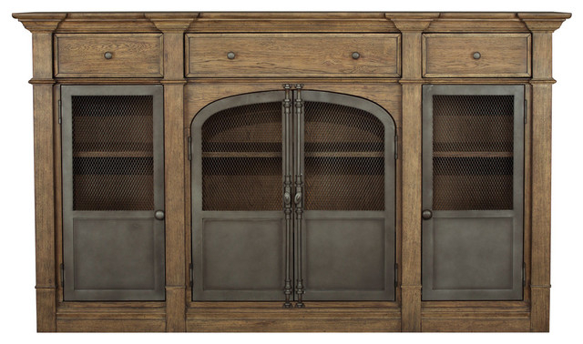Well Known Metal Door Light Oak Sideboard Throughout Joyner Sideboards (View 18 of 20)