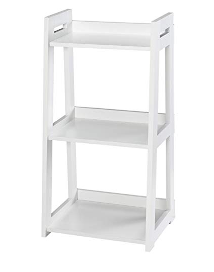 Well Known Narrow Ladder Bookcases Intended For Closetmaid 3314 No Tool Assembly Ladder Shelf, Narrow 3 Tier, White (View 6 of 20)