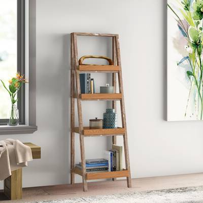 Well Known Noelle Ashlynn Ladder Bookcases For Modern Rustic Interiors Noelle Ashlynn Ladder Bookcase (View 8 of 20)