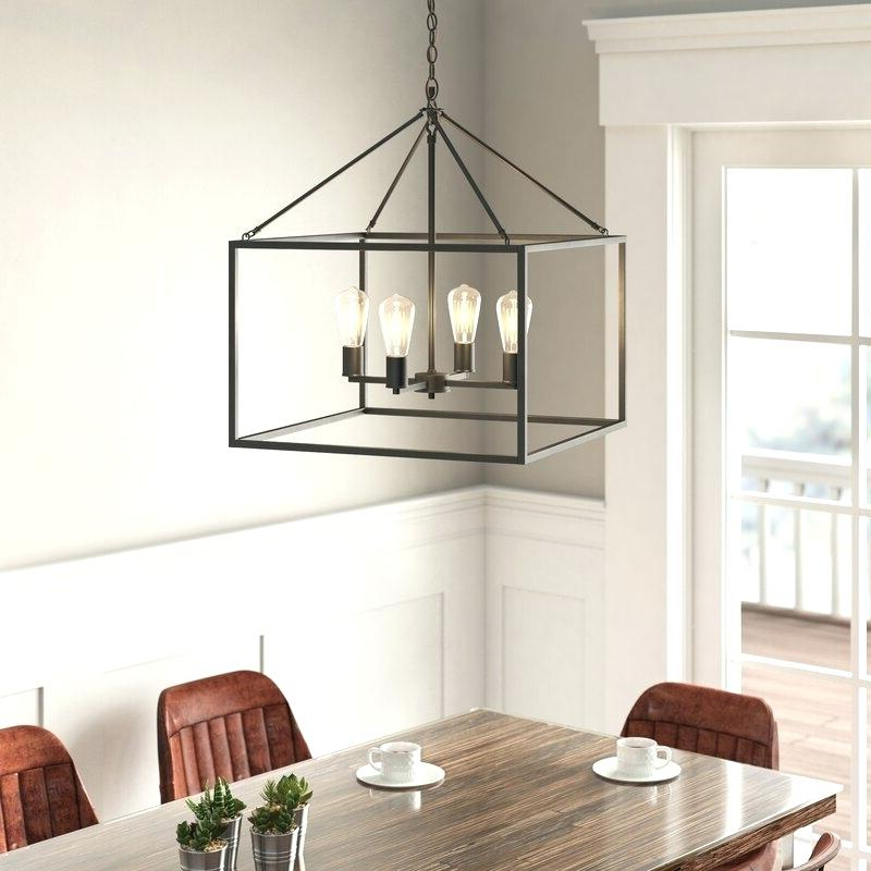 Well Known Odie 4 Light Lantern Square Pendants Intended For Odie 4 Light Foyer Pendant – Odiliazullo (View 28 of 30)