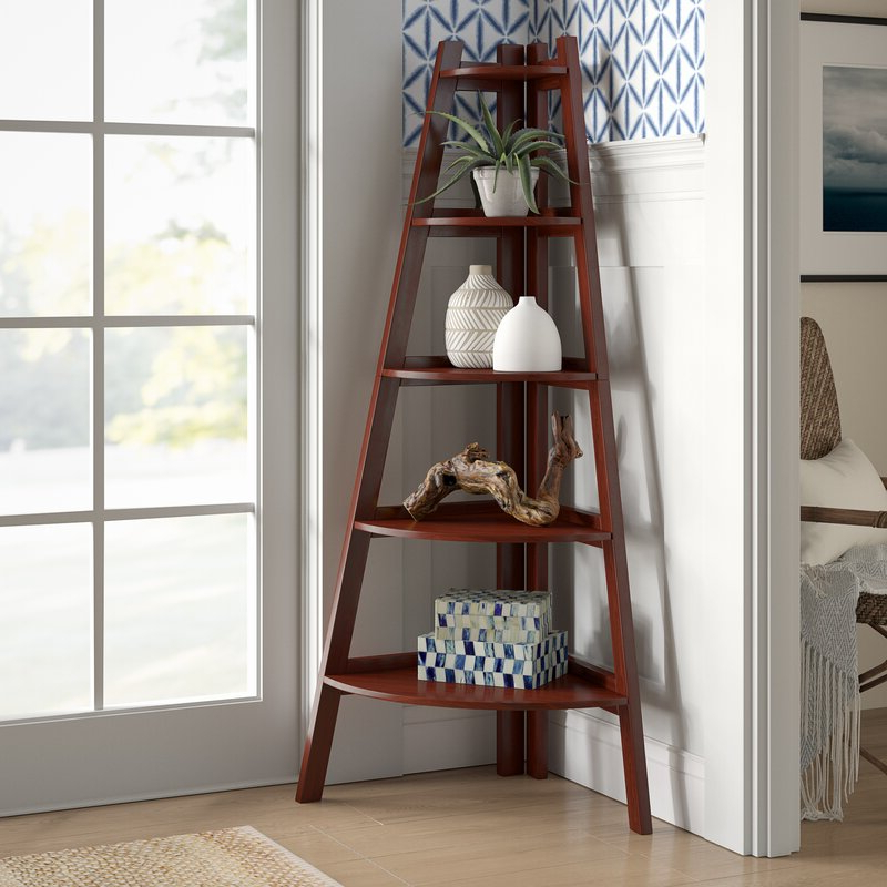 Well Known Pierview Corner Bookcase With Tisha Corner Bookcases (View 19 of 20)