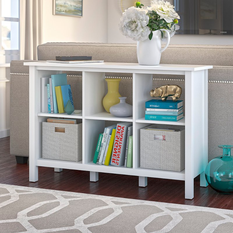 Well Known Pure White 6 Cube Storage Bookcase – Broadview With Regard To Broadview Cube Unit Bookcases (View 8 of 20)