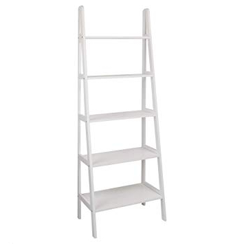 Well Known Rupert Ladder Bookcases For Casual Home 176 51 5 Shelf Ladder Bookcase, White (View 20 of 20)