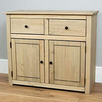 Well Known Ruskin Sideboards Throughout Tesco Ruskin 2 Door 3 Drawer Sideboard (oak): Amazon.co (View 20 of 20)