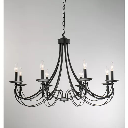 Well Known Ryckman Iron 8 Light Candle Style Chandelier With Regard To Watford 9 Light Candle Style Chandeliers (View 30 of 30)