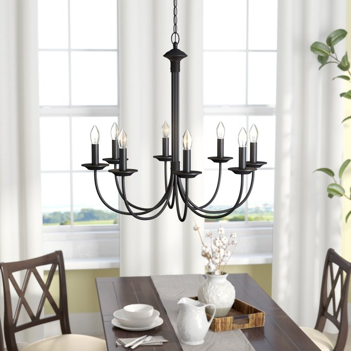Well Known Shaylee 8 Light Candle Style Chandelier Throughout Shaylee 5 Light Candle Style Chandeliers (View 7 of 30)