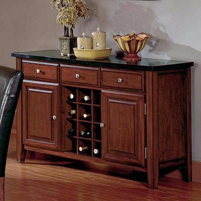Well Known Steve Silver Montibello Wine Rack And Server – Black Granite With Lanesboro Sideboards (View 7 of 20)