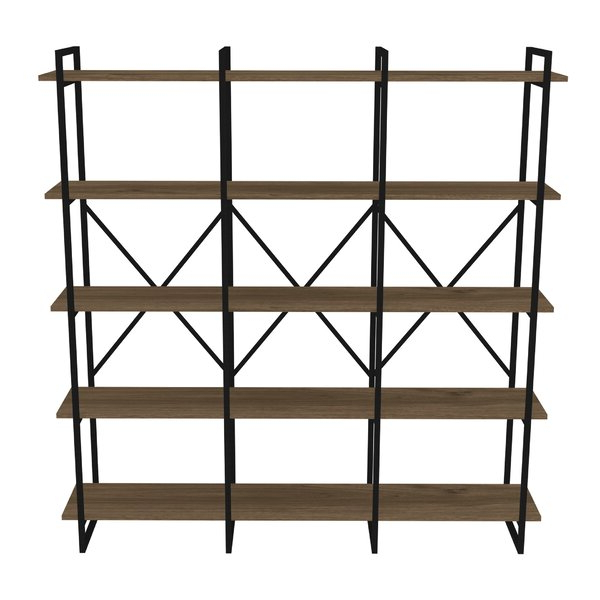 Well Known Strange Metal Framed Triple 5 Shelf Etagere Bookcasegracie Oaks Pertaining To Abbottsmoor Etagere Bookcases (View 19 of 20)