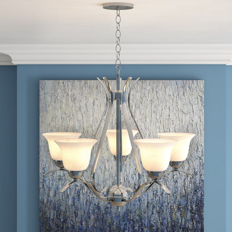 Well Known Suki 5 Light Shaded Chandeliers Pertaining To Newent 5 Light Shaded Chandelier (View 14 of 30)