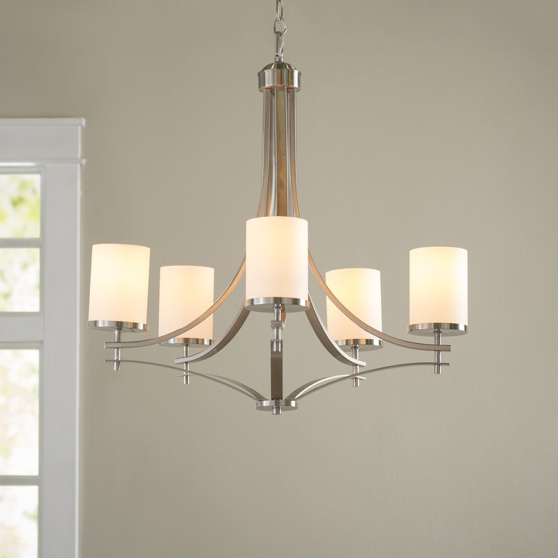 Well Known Suki 5 Light Shaded Chandeliers Within Agnes 5 Light Shaded Chandelier (View 10 of 30)